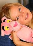 FunWithAmber: Lana plays with pink panther